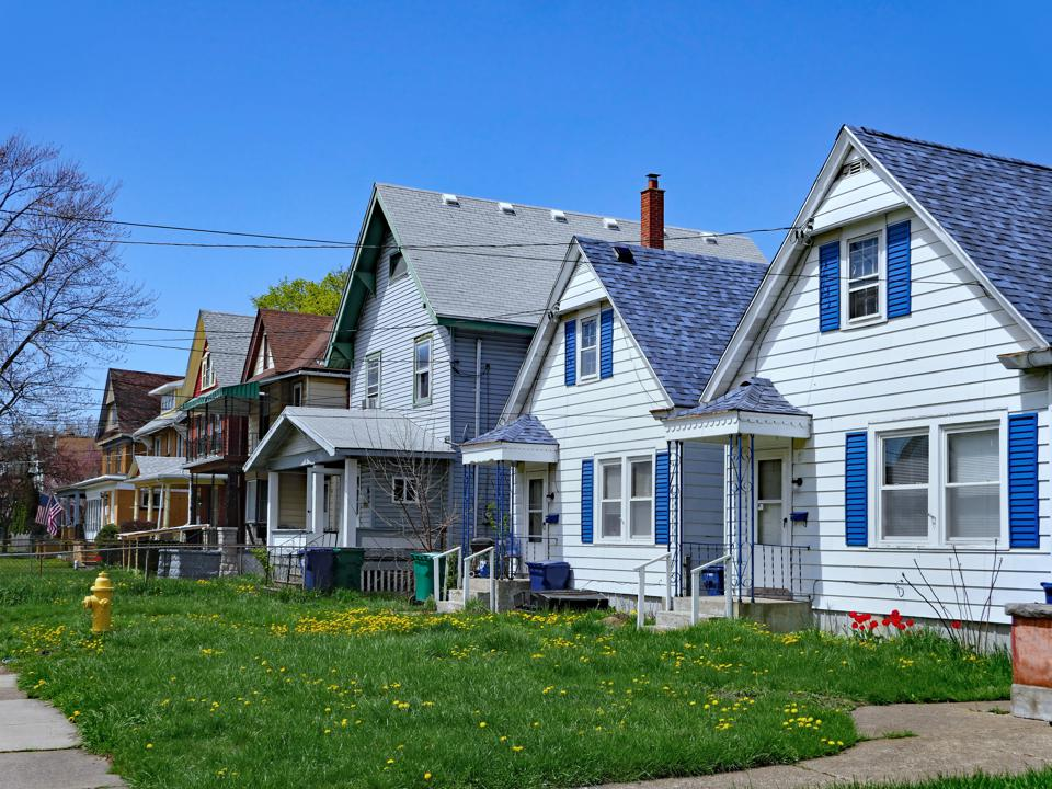 Houses in a real neighbourhood in USA